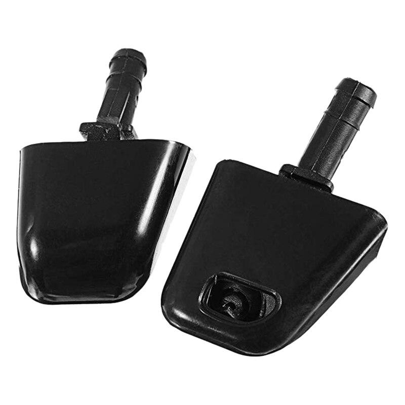 2Pcs Wiper Front Headlight Washer Jet Nozzle For Nissan X-Trail T31 2007-2013 28641-1DA0A 28642-1DA0A