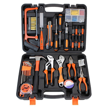 Household Hand Tool Kit Home Repair Tools Screwdriver Hammer Wrench Plier Mixed Tools Set with Toolbox Storage Case 100PCS home tool set household tool kits socket set screwdriver hammer wrench set home repair tools for diy hand tools 8pcs 16pcs18pcs