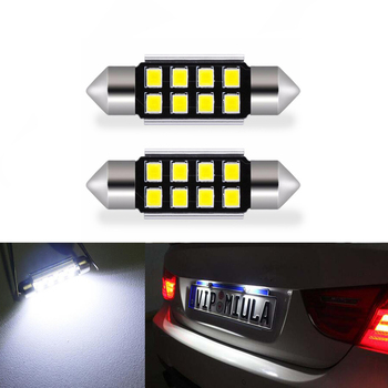 2x Car Led Error Free 36mm C5W 2835 SMD Lamp 12V License Plate Lights For BMW E36 E39 E46 E90 E91 E92 E53 E60 E65 E71 image