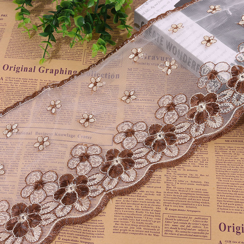 Explosive Lace Embroidery Lace Lotus Leaf Water Soluble Edge Factory Direct Clothing Home Textile Curtain Bedding DIY