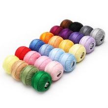 Tamanho 20 seis fios fio de pérola de algodão perfeito para crochê tatting tricô 25 gramas 210 jardas pela bola