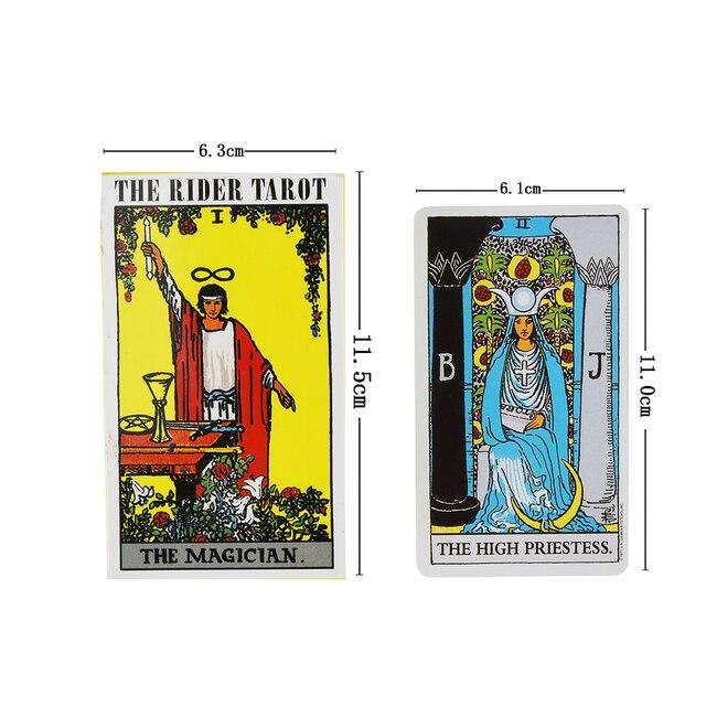78pcs The Rider Tarot Magician Oracle Card Deck English Tarot Card Deck Guidebook Card Card Game Magical Fate Divination Card 2