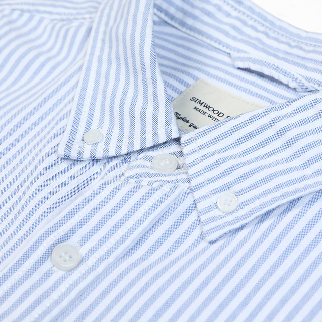 Classic Stripped Shirt in light blue