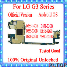 Original for LG G3 D855 Motherboard with Android System 16GB / 32GB unlocked for LG G3 D850 D852 D851 D855 VS985 Logic Boards(China)