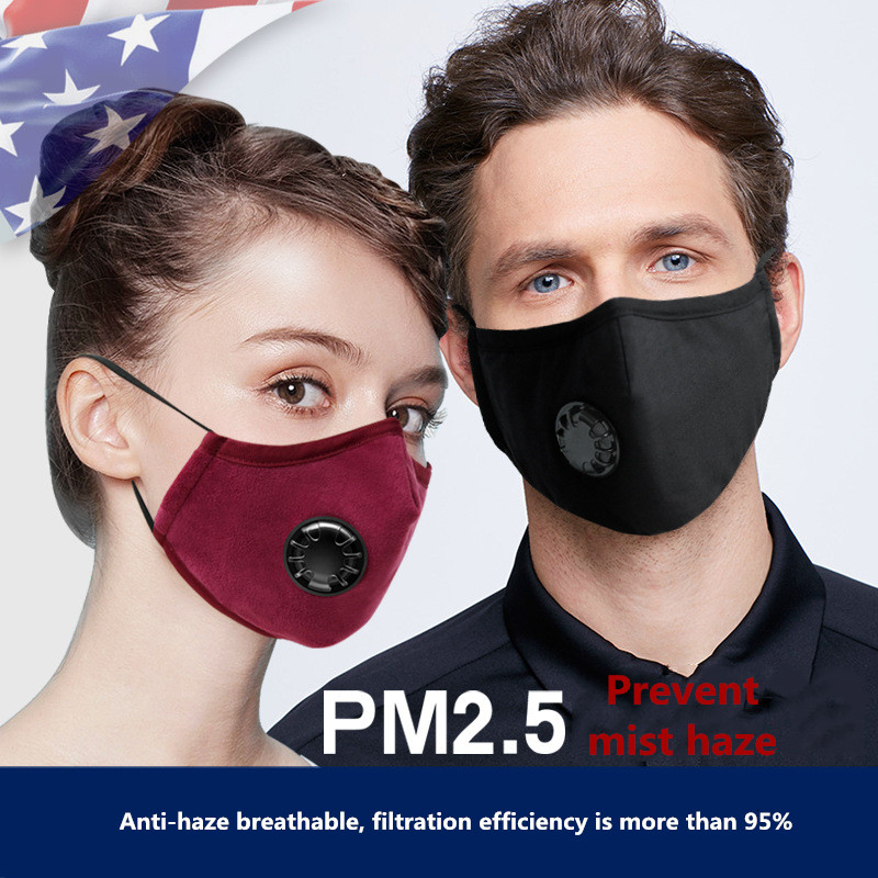 Breathing Dust Mask For Men And Women Anti-fog Dust PM 2.5 Pollen Breathable Valve Mask Reusable Activated Carbon Air Filter