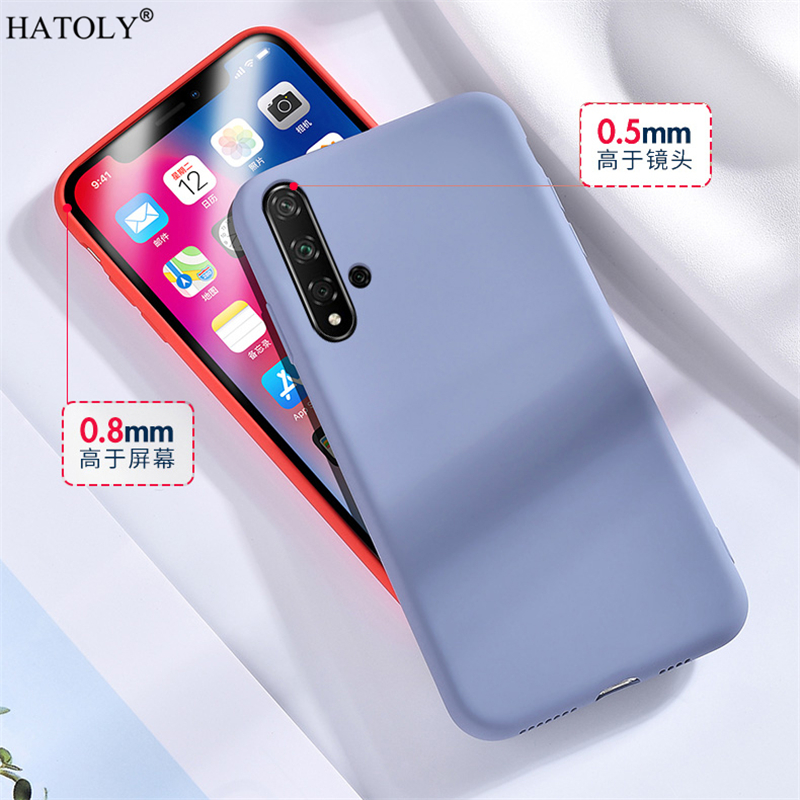 For Huawei Nova 5t Case Cover Nova 5 T 6 7 Se Pro 2 3 3i 4 Soft Liquid Silicone Phone Bumper Case Solid Color Back Cover Nova 5t Phone Case Covers Aliexpress