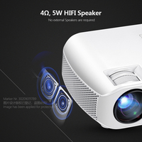 Original AUN MINI Projector F10UP,Portable, 1280*720P Optical Resolution Home Theater Projector Android 7.1 (2G+16G) WIFI