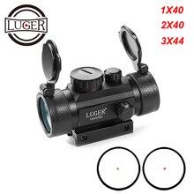 цена на 1X40 2X40 3X44RD Red Green Dot Sight Scope Tactical Optics Riflescope Fit 11/20mm Rail Collimator Sight Gun Hunting Rifle Scope
