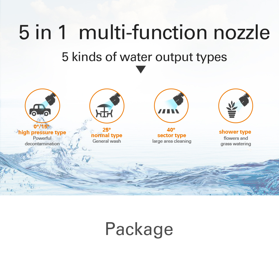5 in 1 multiple function Nozzle