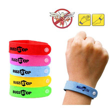 Braccialetto all'aperto braccialetto Anti Zanzara Mozzie Insetto Bug Repeller Repellente Polso Wristband dropshipping Zanzare di Controllo Dei Parassiti(China)