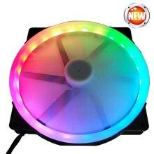 20 см большой вентилятор RGB круглый светодиодный вентилятор автоматически переключается бесшумный вентилятор для компьютера чехол 20025 вентилятор RGB 12 В molex 4-контактный Вентилятор охлаждения