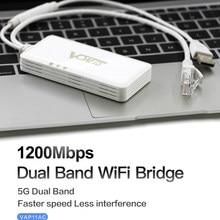 VONETS – répéteur Wifi Portable sans fil VAP11AC double bande 2.4G 5G, 300 mb/s + 900 mb/s, pour la surveillance de la sécurité vidéo