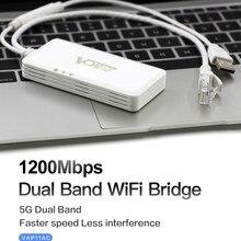 VONETS VAP11AC doble banda 2,4G 5G inalámbrico repetidor portátil Wifi puente Router 300Mbps + 900Mbps para Video de vigilancia de la seguridad