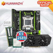HUANANZHI X79 green motherboard cpu set with Xeon E5 2689 2x8GB 1600MHz DDR3 REG
