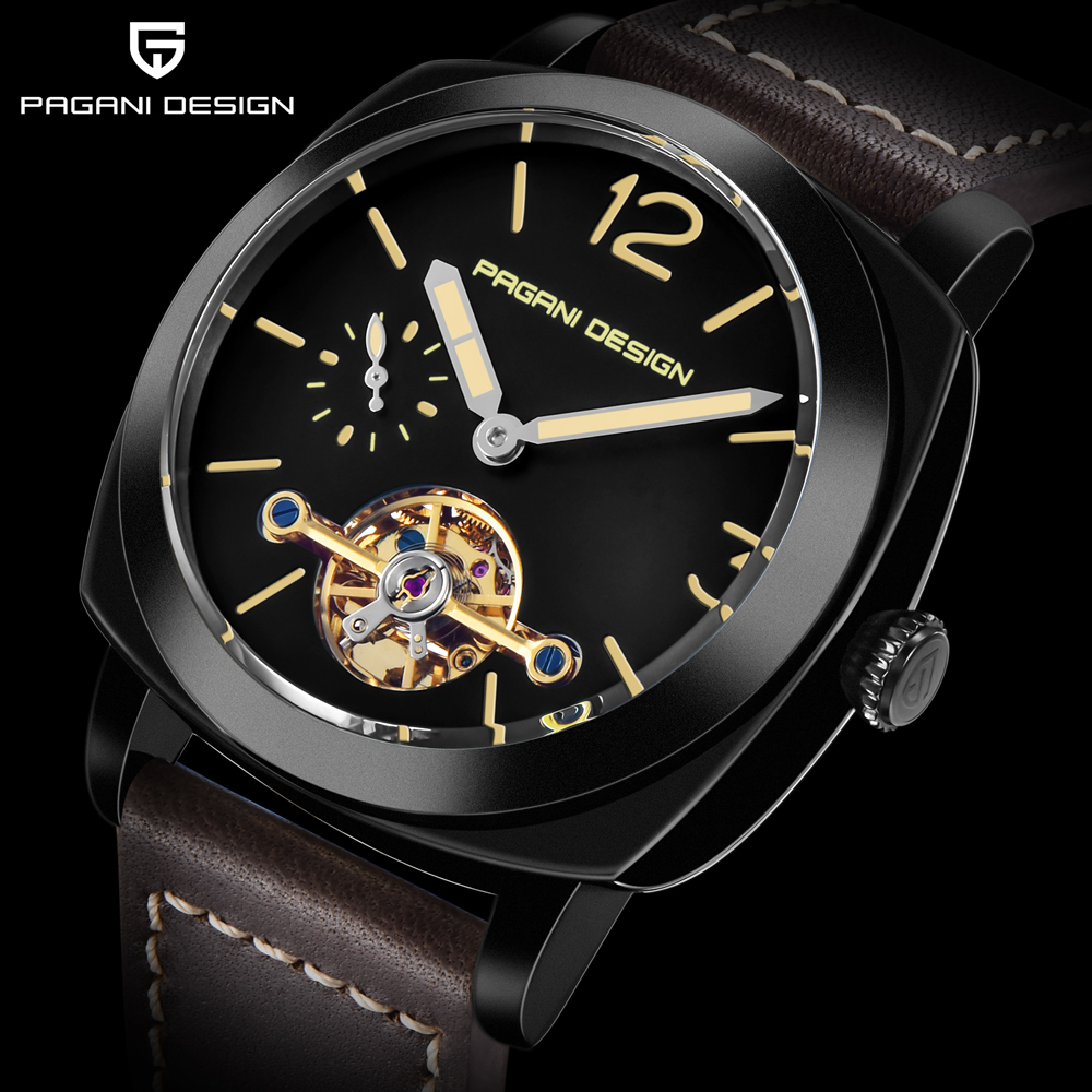 high quality PAGANI DESIGN Luxury Tourbillon Mechanical Watches Luminous Genuine Leather Fashion Casual Skeleton Automatic Watch free dropshipping 2020 (9)