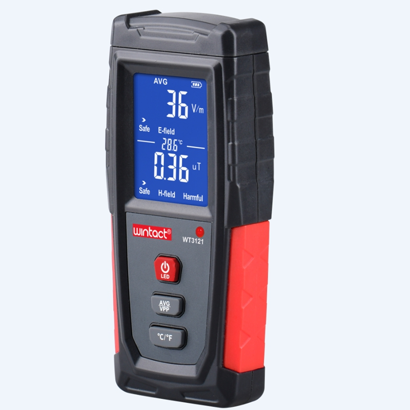 Digital Electromagnetic Radiation Detector LCD Electric Magnetic Field EMF Meter 5Hz-3500MH Frequency Tester Indicator DataLock