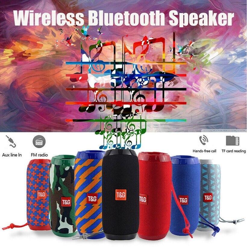 Loudspeake 8D Surround Subwoofer à prova d água Bluetooth Speaker Portátil Tf/AUX /FM Radio /Call 1200mAh Para esportes ao ar livre
