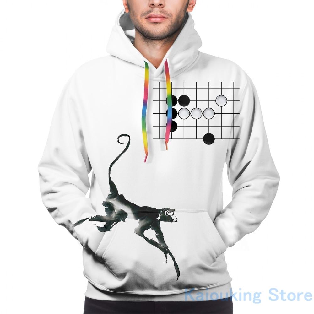 Herren Hoodies Sweatshirt für frauen lustige Affe Jump - Weiqi Gehen Baduk Bord Spiel druck Casual hoodie Streatwear