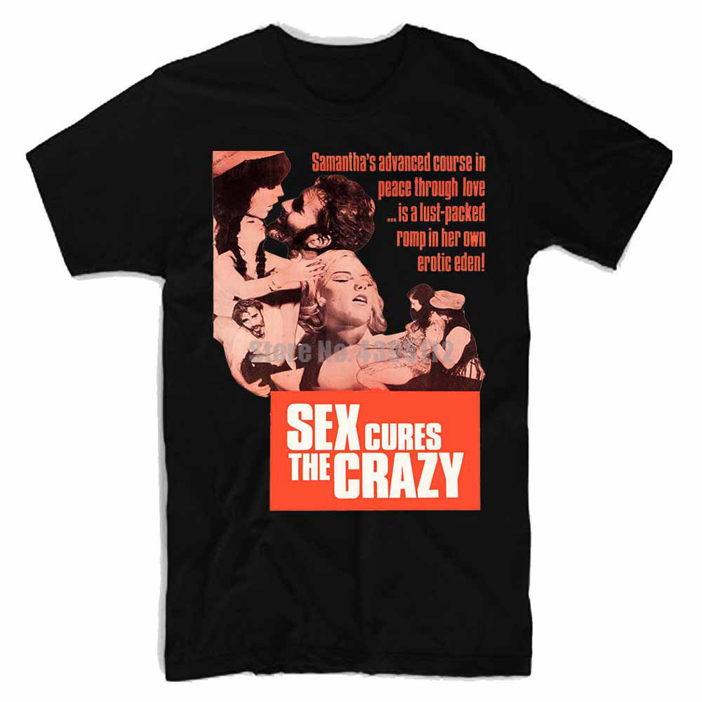 Sex Cures The Crazy Movie Mens Gothic Tshirts Skull T-Shirt Sloth Tshirts Sports T-Shirts Delivery From Russia Kyxhls image