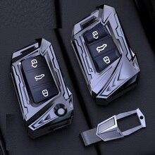 רכב מפתח מקרה Fob כיסוי עבור פולקסווגן פולקסווגן גולף MK 5 7 Tiguan טוראן פאסאט B8 ג טה סקודה ליאון איביזה GTI/ארנב/R Kodiaq אוקטביה