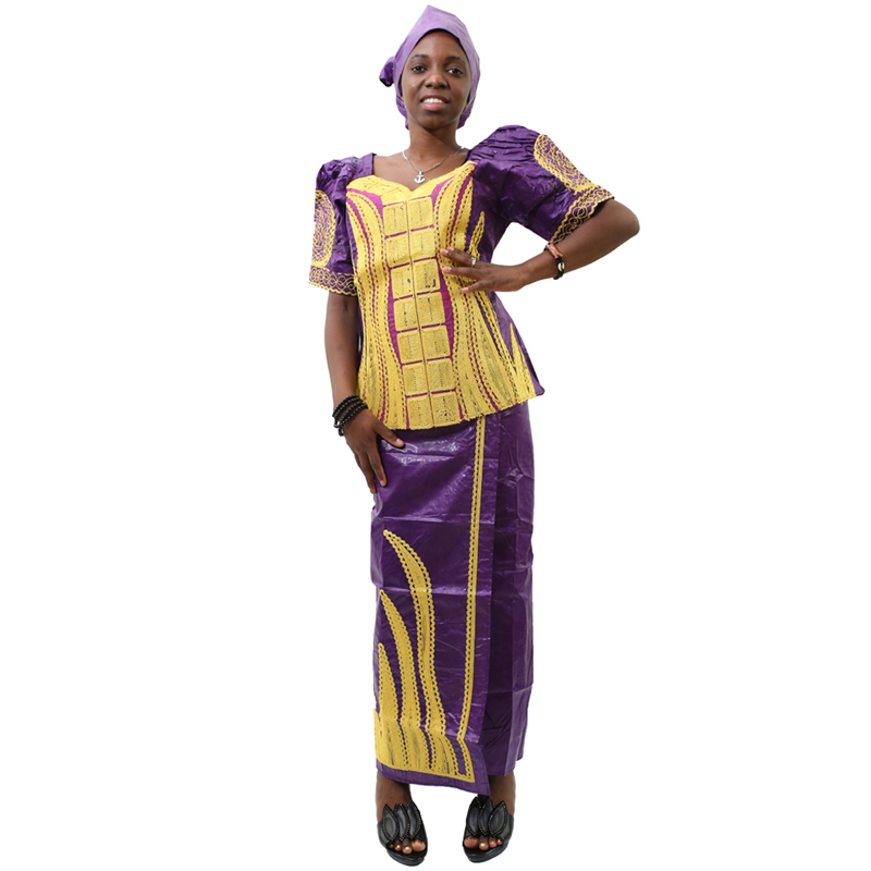 MD 2019 dashiki african dresses for women bazin riche skirt short rapper with scarf three pieces set south africa lady clothing