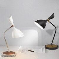 Lâmpada de mesa moderna nordic criativo preto e branco moda led lâmpada de mesa sala estar quarto estudo decorativo luminária|Luminária de mesa| |  -