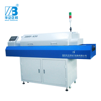 Six zone touch screen SMT reflow soldering oven and pcb screen printing machine at electronics production machine