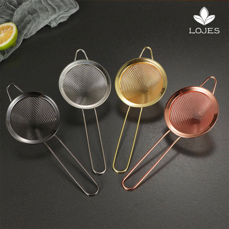 Cocktail Fine Strainer 9cm,Silver Stainless Steel Conical Cocktail Sieve Professional Bar Tool Conical Mesh Strainer Fine Cocktail Strainer Cocktail Mesh Strainer