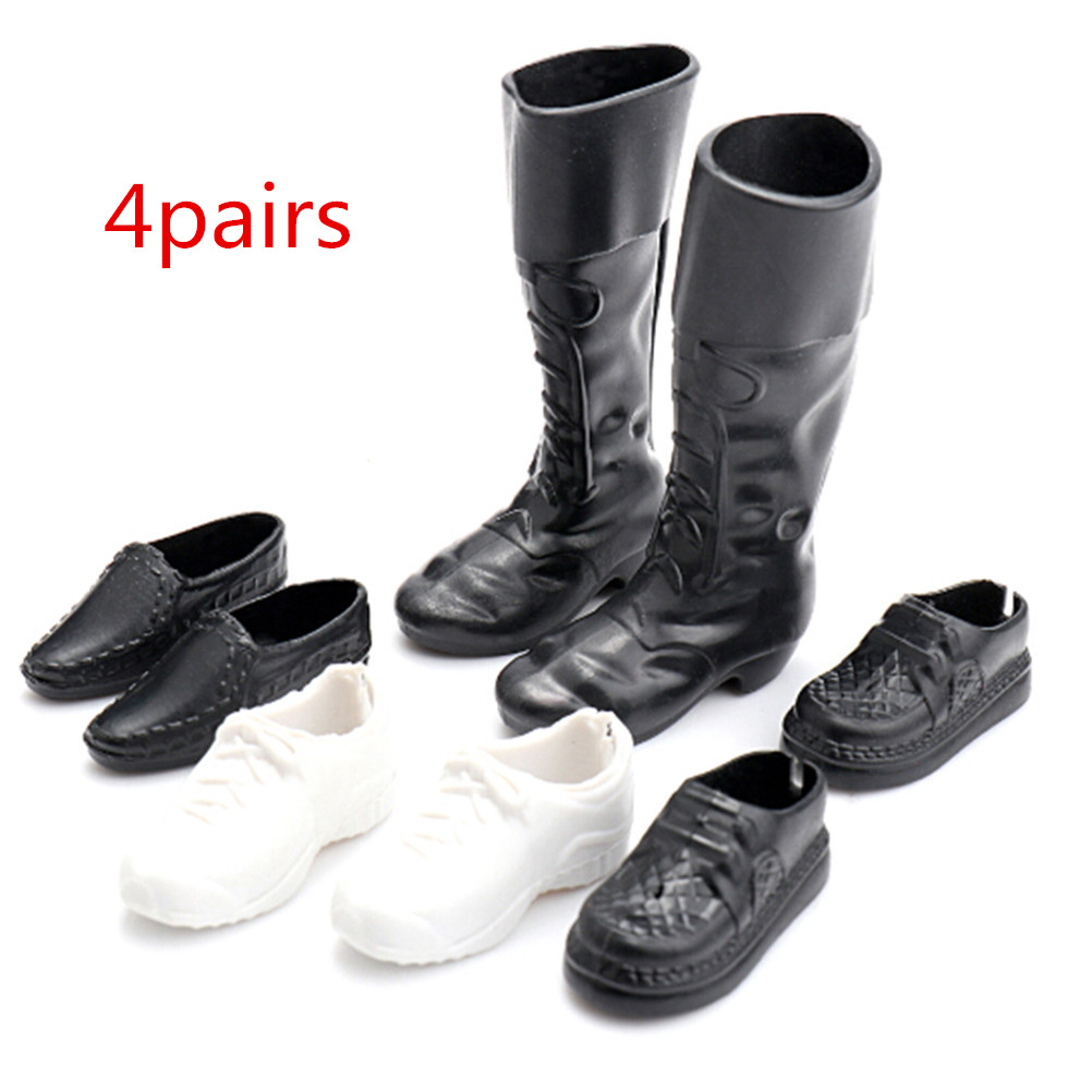 4 Pairs Clothes Accessories Dress Up For Friend Dolls Cusp Shoes Sneakers Knee High Boots For Boyfriend Ken
