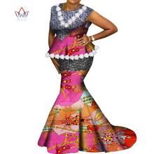 Новые наряды Анкары летние комплекты из вощеной ткани с юбкой