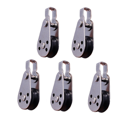 5PCS 316 Stainless Steel Pulley 60mm Wire Rope Crane Pulley Block Hanging Wire Towing Wheel For 2mm To 8mm Rope