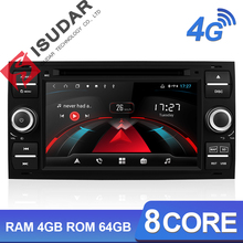 Isudar H53 Car Multimedia Player Gps Android 2 Din Voor Ford/Mondeo/Focus/Transit/C MAX/kuga 8 Core Ram 4 Gb Dvr Autoradio Dsp Dvd