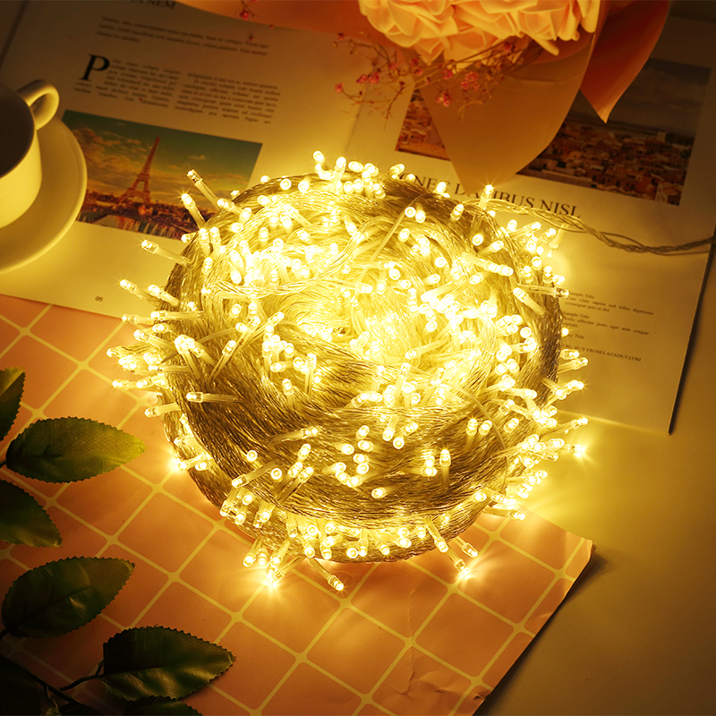 Indoor/outdoor Christmas Light LED Fairy String Lights Waterproof Battery Garland Twinkle Lights For Holiday Wedding Decoration