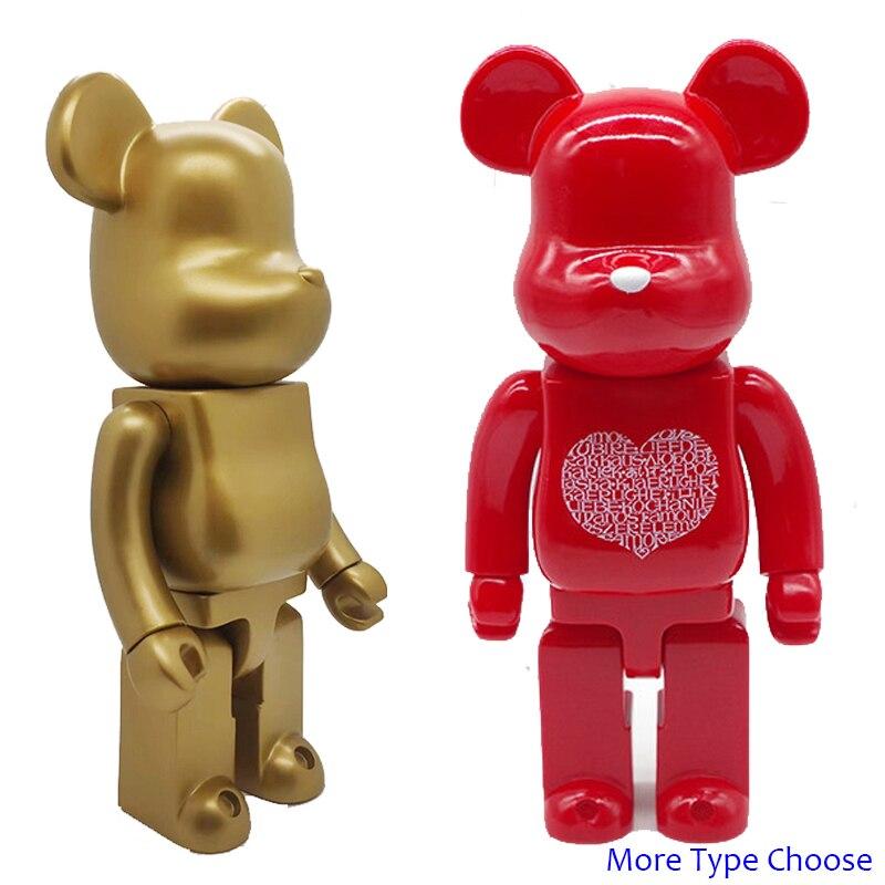 11inch 400% Bearbrick Bear@brick Action Figures Block Bear PVC Model Figures DIY Paint Dolls Kids Toys Children Birthday Gifts
