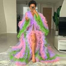 Mix Цвет комбинированное фатиновое платье для женщин пышное
