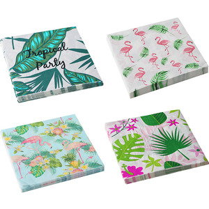 20 Pcs Flamingo Paper napkins Flamingo party decoration Hawaiian tropical Wedding table decor Disposable napkins Summer Aloha