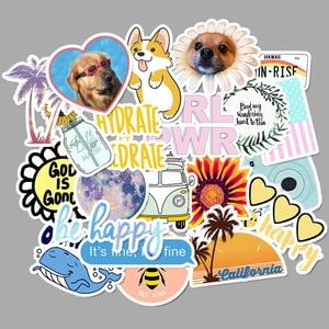 Image 2 - 50 PCS Vsco Stickers Pack For Kawaii Girl Things On Laptop Fridge Phone Skateboard Suitcase Waterproof Sticker