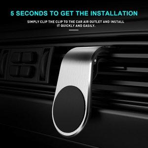 Креативный Автомобильный Кронштейн для мобильного телефона креативный автомобильный Магнитный всасывающий металлический магнитный держ...