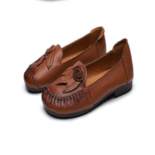 Genuine Leather Women Flats Handmade Women's Shoes