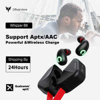 Whizzer B6 IPX7 Aggiornamento Impermeabile TWS Auricolare Senza Fili Auricolari Bluetooth 5.0 Supporto Aptx/AAC 45h Tempo di Gioco Per iOS/Android