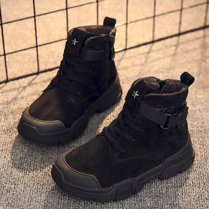 Image 2 - Winter New Kids Ankle Boots Fashion Vintage Boys Martin Boots For Children Waterproof Boots Girls Snow Sneakers Outdoor Non slip