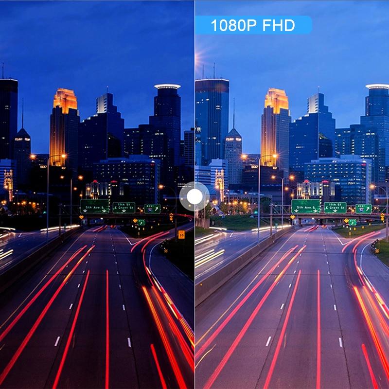 "4"" LCD Dash Cam Car DVR 24h Parking Monitor 1080P Night Vision Dashcam Auto Video Recorder with 720P Rear Camera 3 Lens G-Sensor 5"