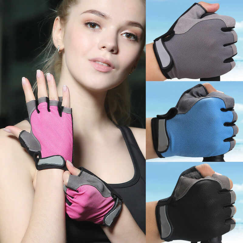 Cycling Anti-Slip Anti-Sweat Men Women Half Finger Gloves Breathable Anti-Shock Sports Gloves Mtb Bike Bicycle Gloves Mittens