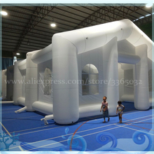 Outdoor oxford inflatable marquee tent for event/party/camping with LED light for event 4x4m inflatable cube tent for event party inflatable exhibition tent for advertising with freeshipping