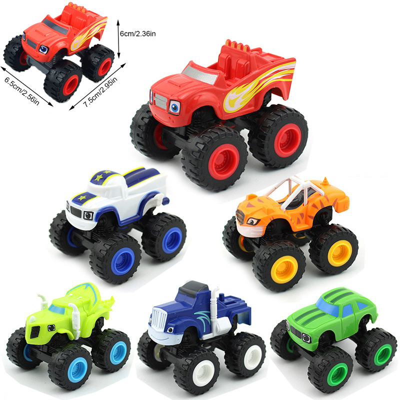 1Pc Monstere Machines Car Toys Russian Miracle Crusher Truck Vehicles Figure Blazed Toys Children Birthday Gifts Blazer Kid Toys