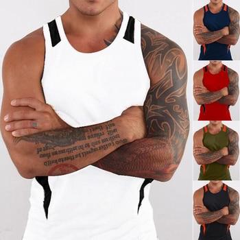 ZOGAA mens workout shirts Brand tank top men 2020 new Patchwork Polyester tank top 7 color mens tank tops shirt  plus size S-3XL цена 2017