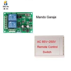 Image 2 - 433Mhzรีโมทคอนโทรลไร้สายRF AC 220Vรีเลย์ตัวรับสัญญาณและสำหรับประตู