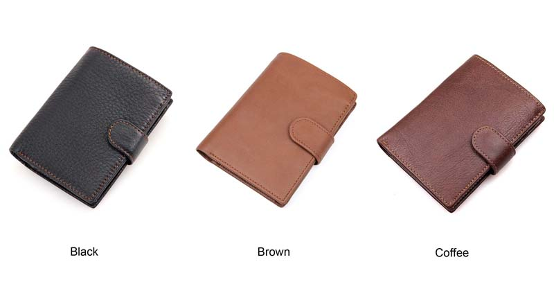 couro Genuíno Bolsa Titular do Cartão de