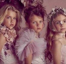 Жилет для девочки на свадьбу, вечернее платье, мягкая пачка, накидка принцессы для детей, 80 140 см, E81229