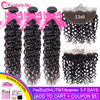 Gabrielle Water Wave Bundles with Frontal 100% Human Hair 13x6 Lace Frontal with Bundles Brazilian Hair Weave Remy Hair Bundles